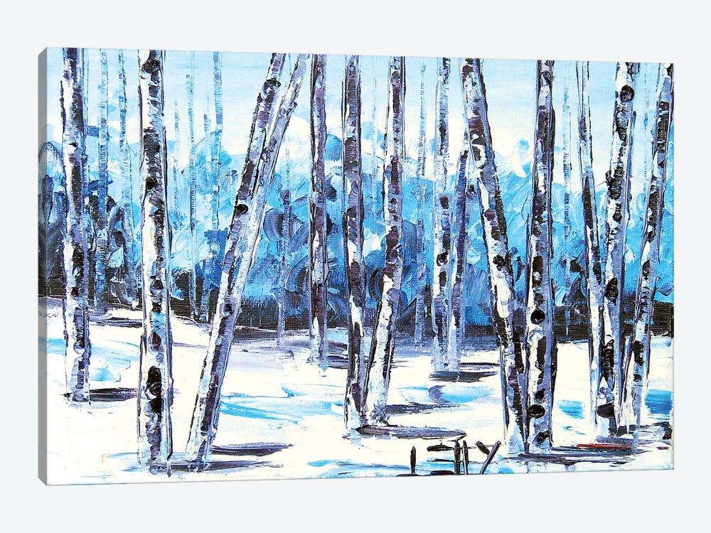 Blue Birch V by Lisa Elley 1-piece Art Print