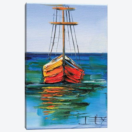 Boats Of Monterey Canvas Print #LEL32} by Lisa Elley Canvas Art Print