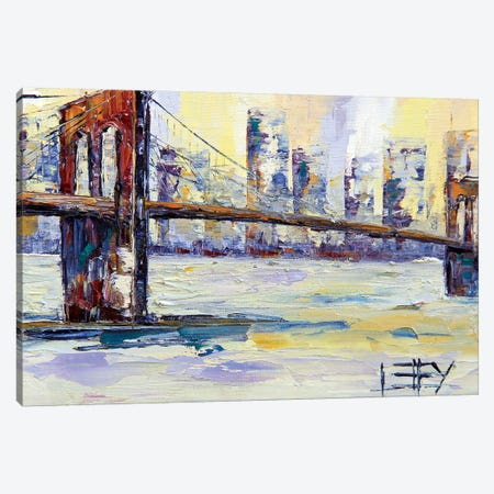 Brooklyn Bridge II Canvas Print #LEL34} by Lisa Elley Canvas Artwork