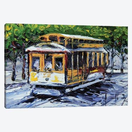Cable Car Canvas Print #LEL35} by Lisa Elley Canvas Artwork