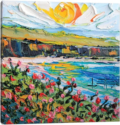 California Sunset Canvas Art Print
