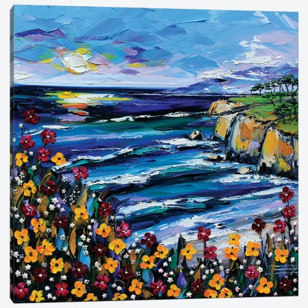 A Day At The Coast Canvas Print #LEL3} by Lisa Elley Canvas Artwork