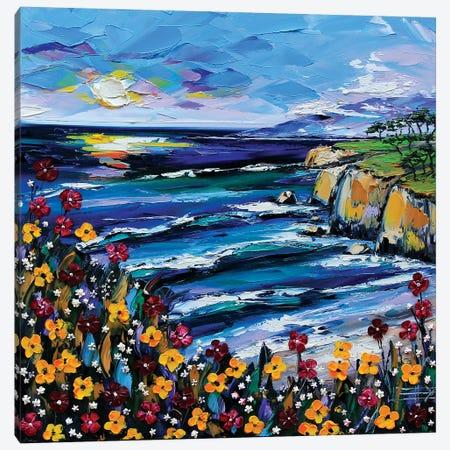 A Day At The Coast Canvas Print #LEL3} by Lisa Elley Canvas Artwork