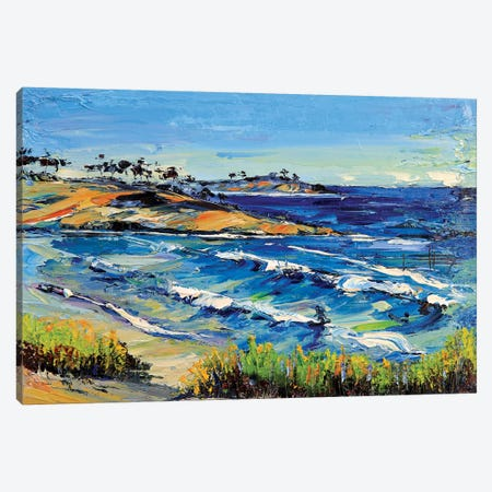 Carmel Beach Canvas Print #LEL40} by Lisa Elley Canvas Wall Art