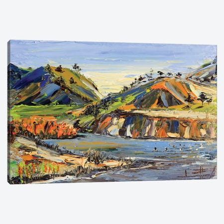 Carmel River State Beach Canvas Print #LEL41} by Lisa Elley Canvas Art