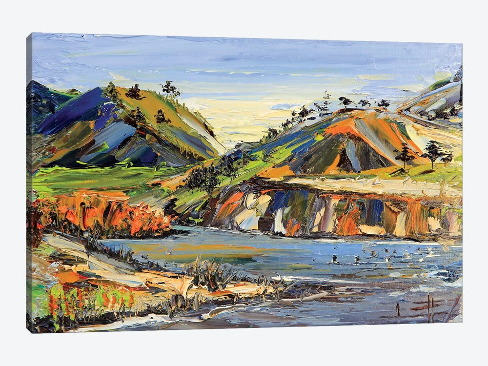 Carmel State Beach by Lisa Elley 1-piece Canvas Art