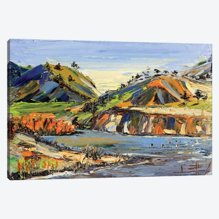 Carmel State Beach Canvas Print #LEL42} by Lisa Elley Canvas Wall Art