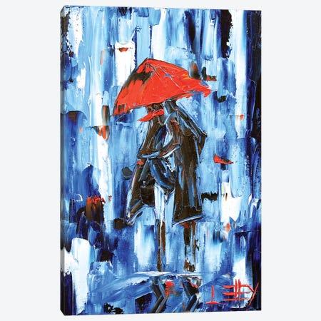 Deluge  3-Piece Canvas #LEL48} by Lisa Elley Canvas Artwork