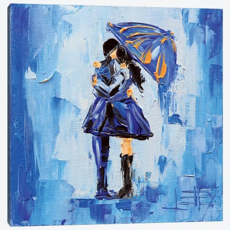 Abstract Couple 3-Piece Canvas #LEL4} by Lisa Elley Art Print
