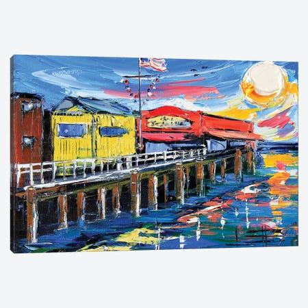 Fishermans Wharf Canvas Print #LEL57} by Lisa Elley Canvas Wall Art