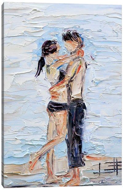 Abstract Girl Beach  Canvas Art Print