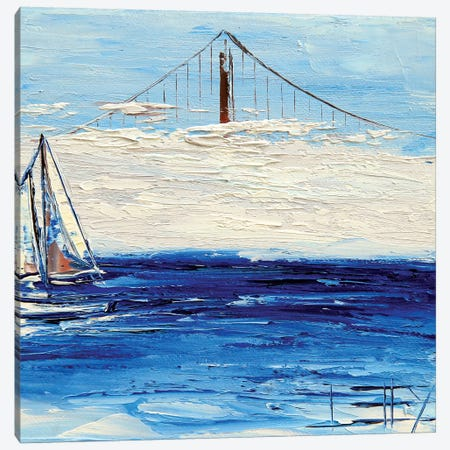 Golden Gate Fog Canvas Print #LEL61} by Lisa Elley Canvas Wall Art