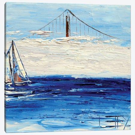 Golden Gate Fog Canvas Print #LEL61} by Lisa Elley Canvas Wall Art