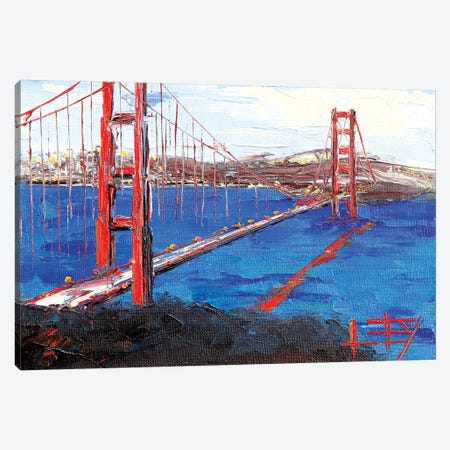 Golden Gate Bridge III Canvas Print #LEL65} by Lisa Elley Canvas Print