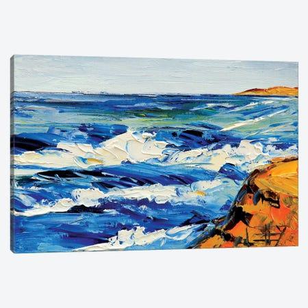 Golden Coast Beach 1 Canvas Print #LEL69} by Lisa Elley Canvas Wall Art