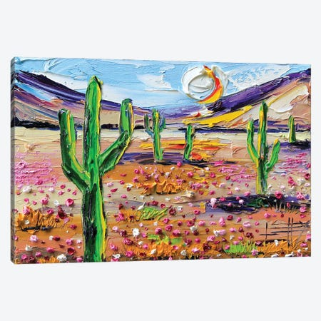Desertscape Canvas Print #LEL6} by Lisa Elley Art Print