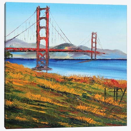 Golden Gate Bridge VII Canvas Print #LEL71} by Lisa Elley Art Print
