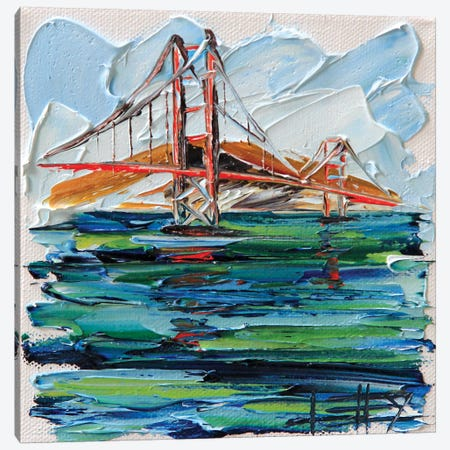 Golden Gate Bridge VIII Canvas Print #LEL72} by Lisa Elley Art Print