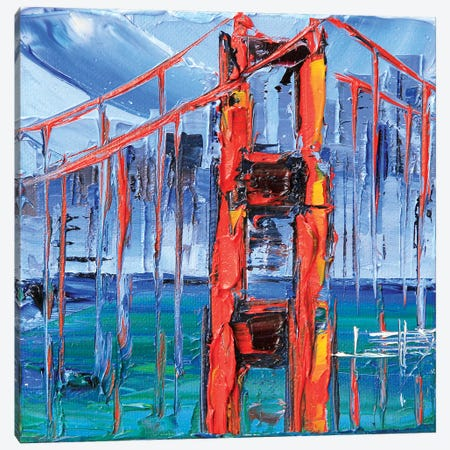 Golden Gate Bridge Glory Canvas Print #LEL74} by Lisa Elley Canvas Art
