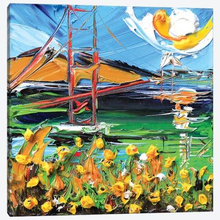 Golden Gate Bridge In My Heart Canvas Print #LEL75} by Lisa Elley Canvas Artwork