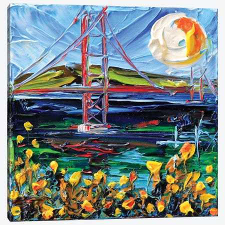 Golden Gate Bridge Memory Canvas Print #LEL76} by Lisa Elley Canvas Art