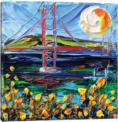 Golden Gate Bridge Memory Canvas Art Print