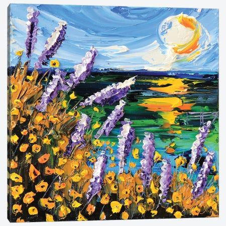 Monterey Bay Lupine Canvas Print #LEL96} by Lisa Elley Canvas Wall Art