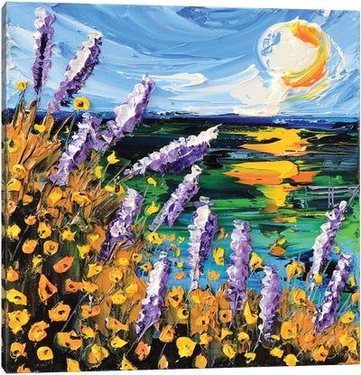 Monterey Bay Lupine Canvas Art Print