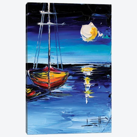 Moonlit Dream Canvas Print #LEL99} by Lisa Elley Art Print