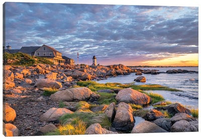 Annisquam Lighthouse, Gloucester, Massachusetts, USA. Canvas Art Print