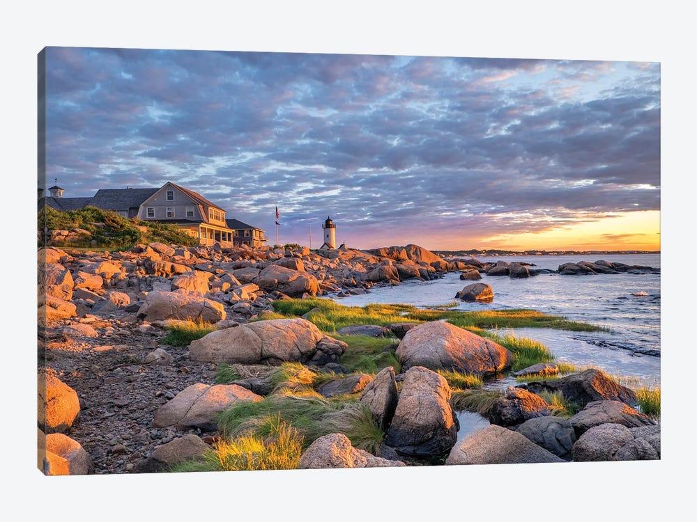 Annisquam Lighthouse, Gloucester, Massachusetts, USA. by Lisa S. Engelbrecht 1-piece Canvas Art Print
