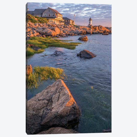 Annisquam Lighthouse, Gloucester, Massachusetts, USA. 3-Piece Canvas #LEN18} by Lisa S. Engelbrecht Canvas Print