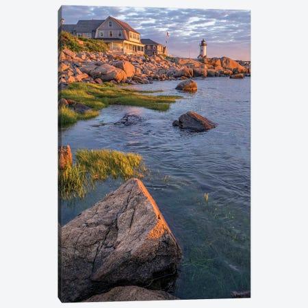 Annisquam Lighthouse, Gloucester, Massachusetts, USA. Canvas Print #LEN18} by Lisa S. Engelbrecht Canvas Print
