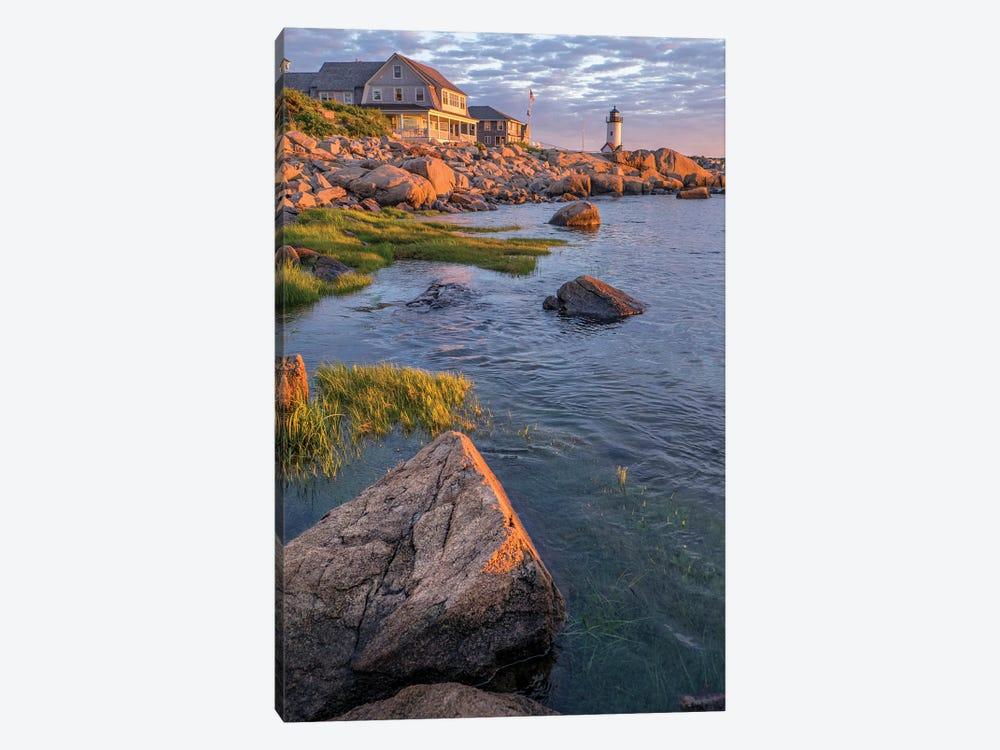 Annisquam Lighthouse, Gloucester, Massachusetts, USA. by Lisa S. Engelbrecht 1-piece Canvas Wall Art