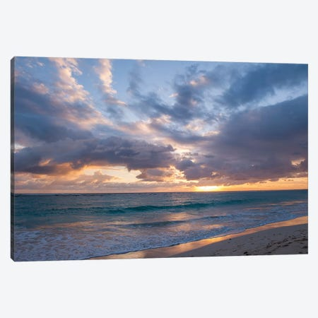 Beach Landscape At Sunrise, Bavaro, Higuey, La Altagracia Province, Dominican Republic Canvas Print #LEN1} by Lisa S. Engelbrecht Canvas Art
