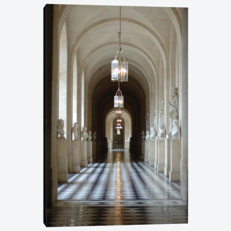 Hallway Of Statues, Palace Of Versailles, Ile-de-France, France Canvas Print #LEN2} by Lisa S. Engelbrecht Canvas Artwork