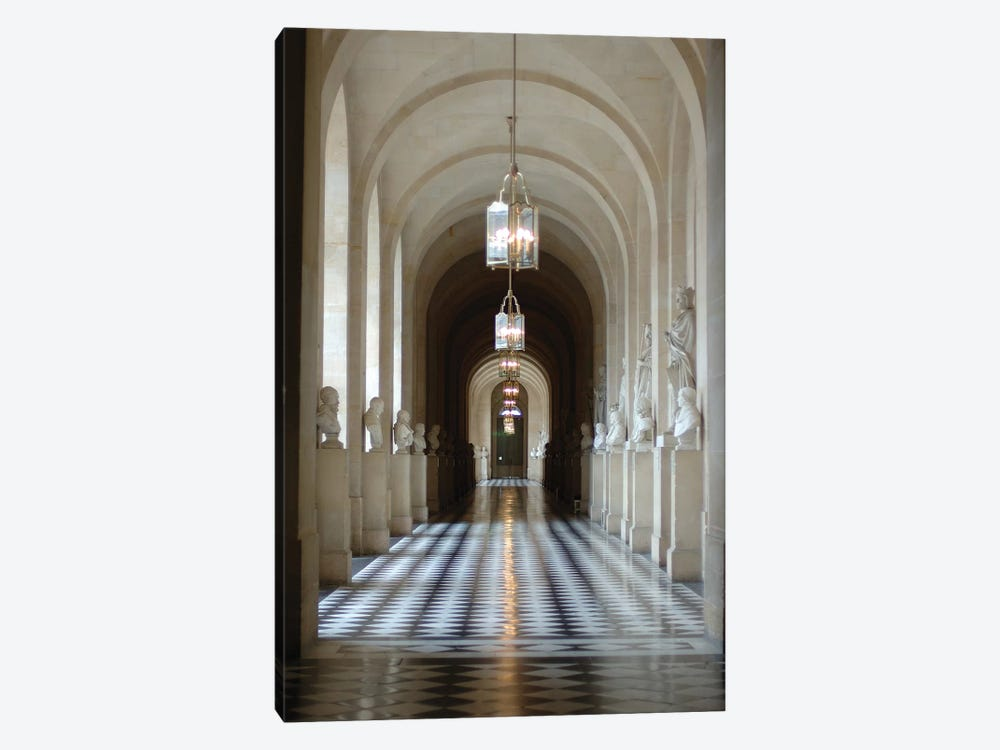 Hallway Of Statues, Palace Of Versailles, Ile-de-France, France by Lisa S. Engelbrecht 1-piece Canvas Wall Art