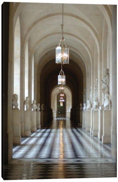 Hallway Of Statues, Palace Of Versailles, Ile-de-France, France Canvas Art Print
