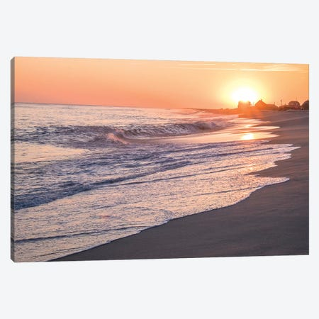 Sunset, Madaket Beach, Nantucket, Massachusetts, USA Canvas Print #LEN4} by Lisa S. Engelbrecht Canvas Art Print