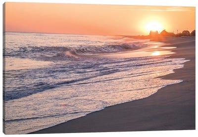 Sunset, Madaket Beach, Nantucket, Massachusetts, USA Canvas Art Print
