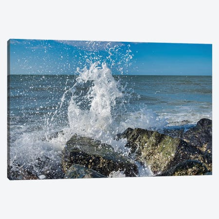 Waves crashing on rocks, Honeymoon Island State Park, Dunedin, Florida, USA Canvas Print #LEN9} by Lisa S. Engelbrecht Canvas Wall Art