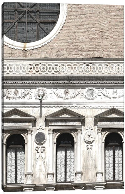 Venetian Facade Photos I Canvas Art Print