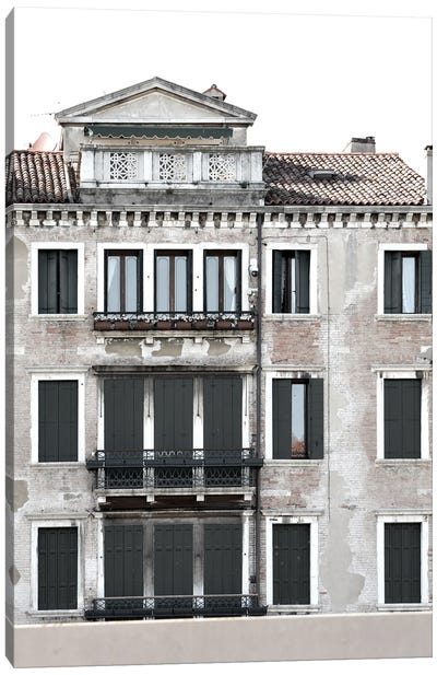 Venetian Facade Photos II Canvas Art Print