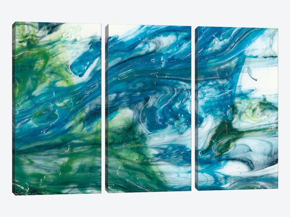 Tidal Sweep I by Sharon Chandler 3-piece Canvas Print