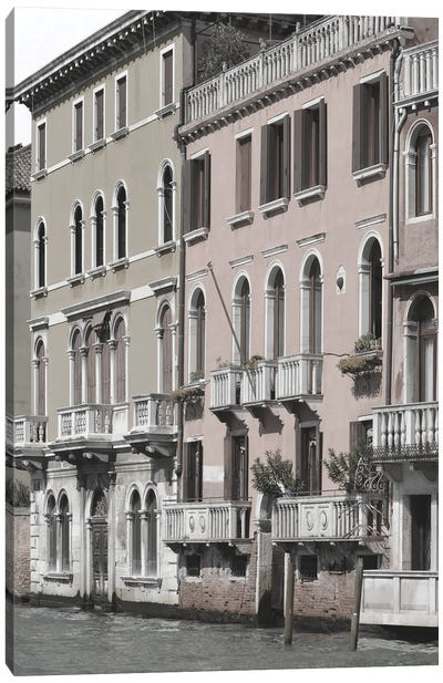 Venetian Facade Photos IV Canvas Art Print