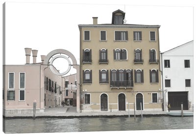 Venetian Facade Photos VII Canvas Art Print