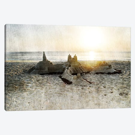 Sand Castle I 3-Piece Canvas #LER30} by Sharon Chandler Canvas Print