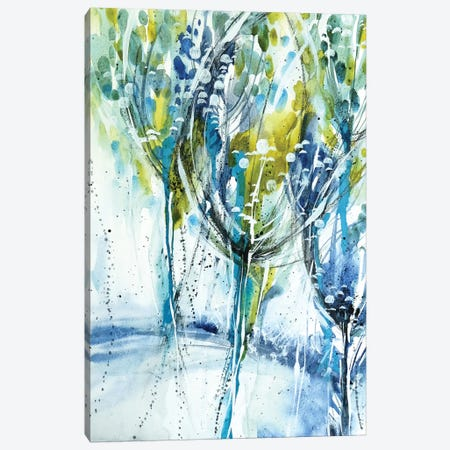 Blue Trees Canvas Print #LES100} by Lesia Binkin Canvas Wall Art