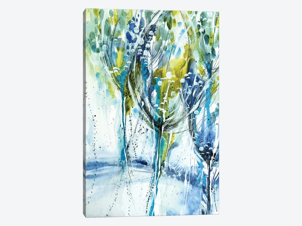 Blue Trees by Lesia Binkin 1-piece Canvas Art Print