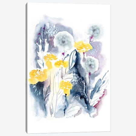 Dandelions Canvas Print #LES103} by Lesia Binkin Canvas Art